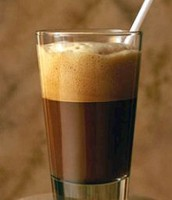 Greek frappé coffee