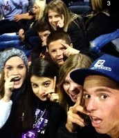 Friends at football games