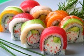 Our New Sushi Rainbow Rolls!!!
