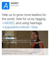 #UpgradeYourWorld #Vote