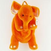 Orange Stuffed Elephant