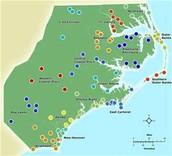 Coastal plain map