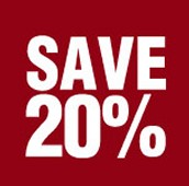 Would you like to save 20% off your next order?