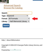 "Tap on the drop down menu that says ""All Formats."""