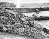 A picture of Australian troops at gallipoli.