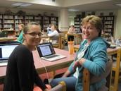 Michelle Kaphamer, WN Gr 3, with Mentor Fay King.