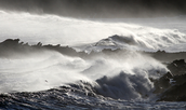 Stormy sea and sea at peace