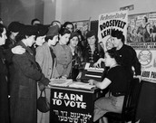 Women Learning how to vote
