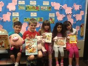 Children with our different Three Little Pig Books