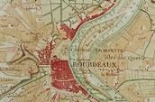 Une vielle carte de Bordeaux