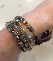 Brand Corazon Wrap Bracelet that can also be worn as a necklace.