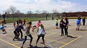 Partner 4 square at recess