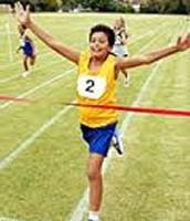 Me gustaba echar carreras porque yo era atlético.