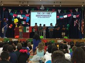 Dr. Cerda's 4th grade Panthers read The Cry For Independence at Diez y Seis Celebration!