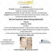 SHINE 365 Pricing list
