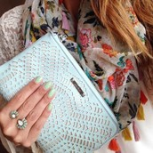 BOTH SOLD!!Zinnia Split ring ( was $42, now $20) AND  Double Clutch in Mint $94, now $40