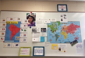 4th Grade South America Wall