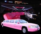 limo in pink