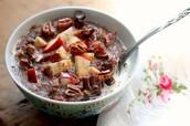 Teff Porridge with Apples and Dates