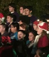 Singing at the Richland Tree Lighting