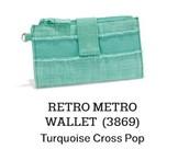 Retro Metro Wallet - Sea Plaid
