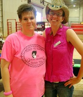 Ms. Narda, Volunteer Coordinator, and Alicia Guthrie, her assistant and long time Ranch rider.