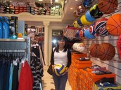 In this sports shop we have everything for almost every sport.From shoes to the headbands, we have it all.