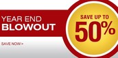 YEAR END BLOWOUT SALE FROM 28TH DEC 2014 TILL 31ST DEC 2014