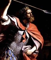 שאול מנהיג את העם למלחמה