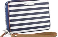 Chelsea Tech Wallet - Navy Stripe