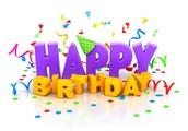 Happy Birthday to all these summer birthdays!