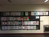 Art students shared their collaborative artwork.