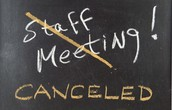 Staff Meeting CHANGE!!!