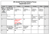 8th Grade - Click to Enlarge