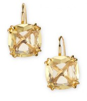 Cushion Drop Earrings-Canary