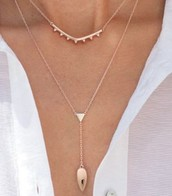 Rose Gold Tiered Lariat Necklace $35 (orig. $59)