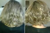 blond e corte chanel
