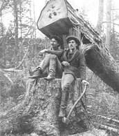 James Naismith as a lumberjack