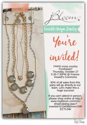 J. Bloom Jewelry XC Fundraiser on 10/27 from 530-730 @ FHHS Commons