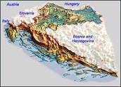 This is a land layout of croatia and the land around it