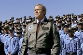 George W. Bush becomes popular