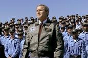 George W. Bush becomes popular