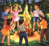 ילדים מסביב למדורה