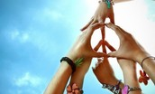 people peace sign