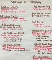 Multiplication Strategies We Have Learned!