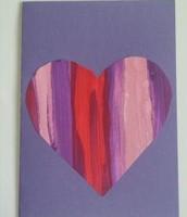 Stripy Heart Card