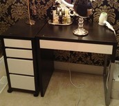 makeup/other desk (2 peices)