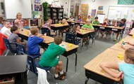 Mrs. Jones' 4th graders with their opening activity
