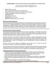 PAID Communications/Social Media Internship- DUE January 17