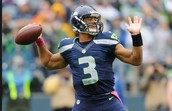 Russell Wilson in the NFL playing for the Seattle Seahawks.